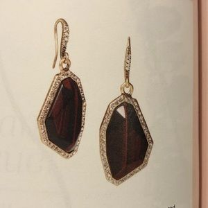 Rebel Red Tiger Eye Drop Earrings